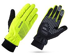 Rukavice GripGrab Ride HI-VIS Windproof Winter, fluo/reflex
